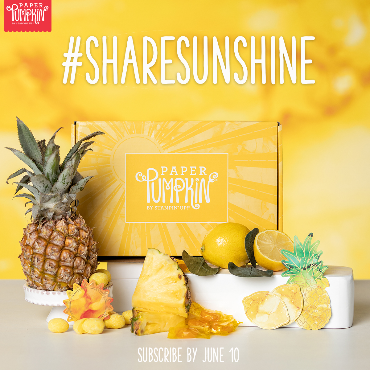 Spreading Sunshine - June 2020 Paper Pumpkin Kit