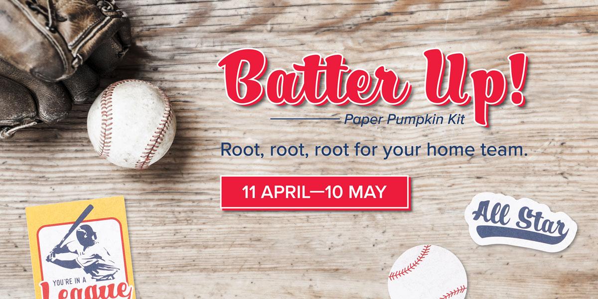 Paper Pumpkin Batter Up! May 2021 Kit Banner