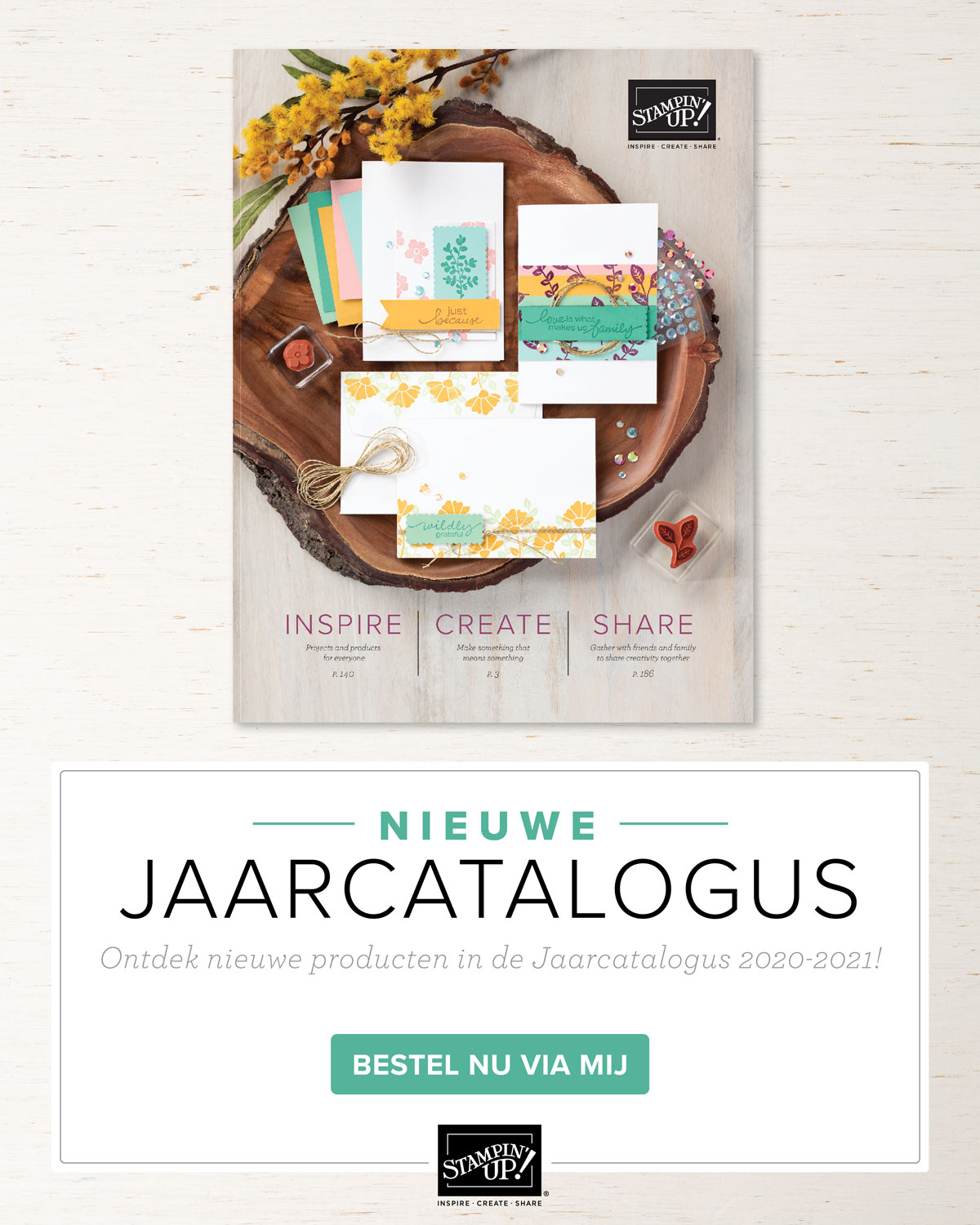 Stampin' Up! jaarcatalogus 2020-2021