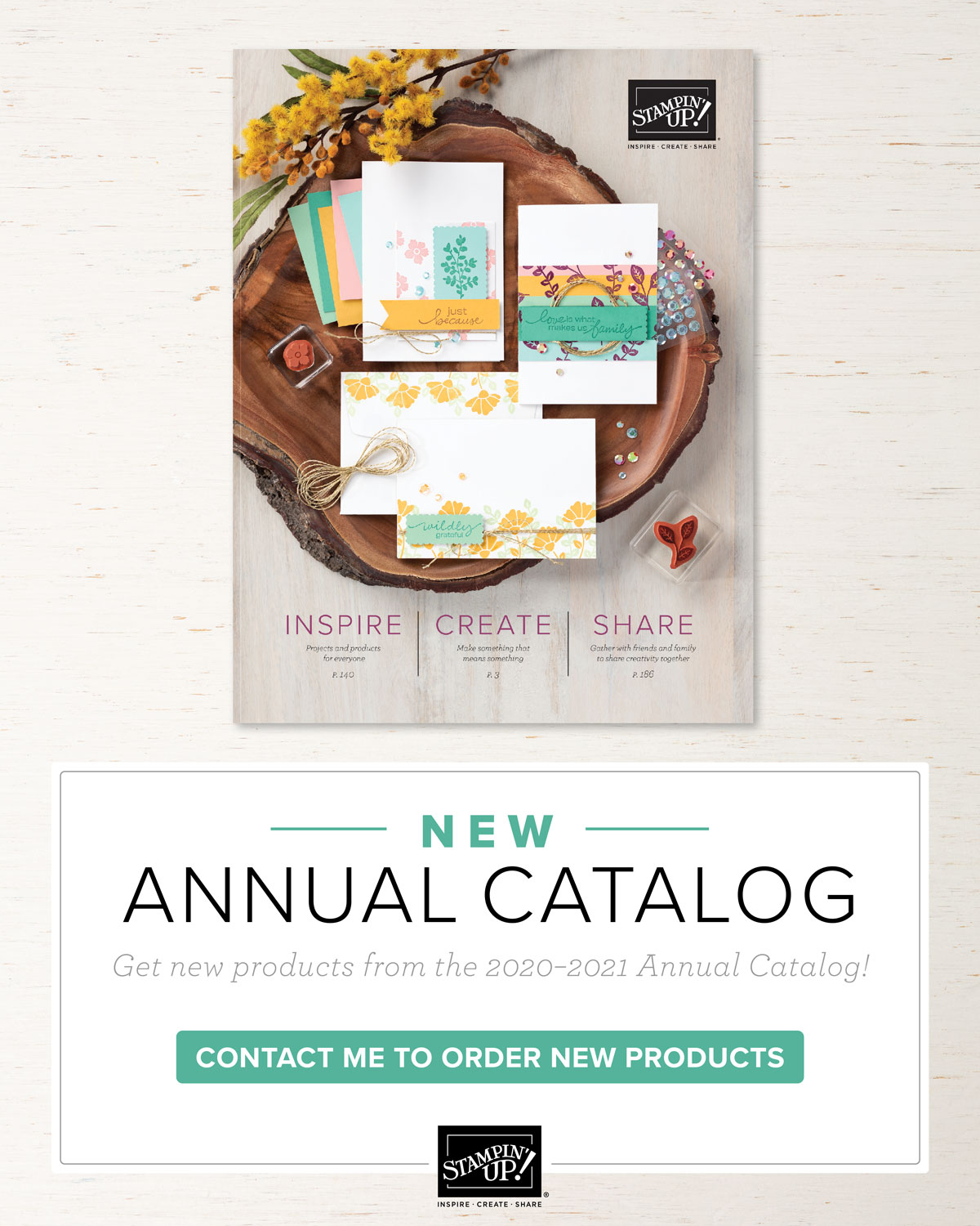 NEW ANNUAL CATALOG AVAILABLE NOW!