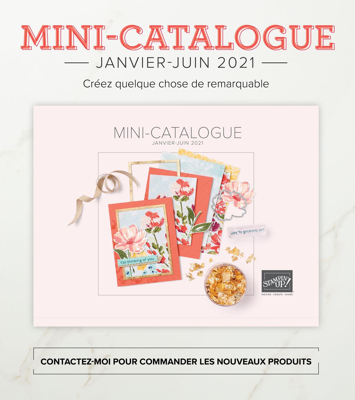 Nouveau mini catalogue Janvier/Juin 2021