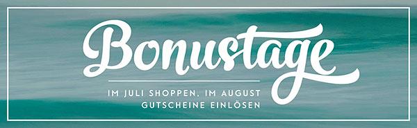 """Aktion """"Bonustage"""" beginnt am 7. Juli!"""