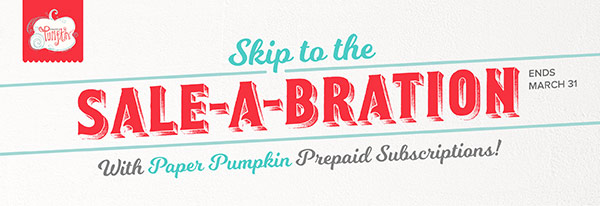 Paper Pumpkin Offer during Sale-A-Bration