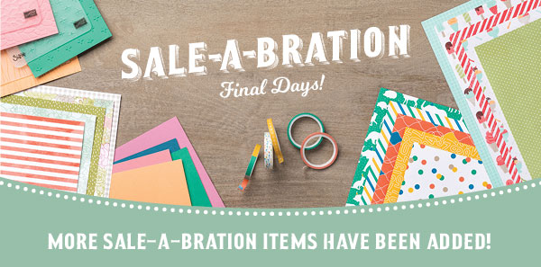 8 MORE Sale-A-Bration Items Added Today!
