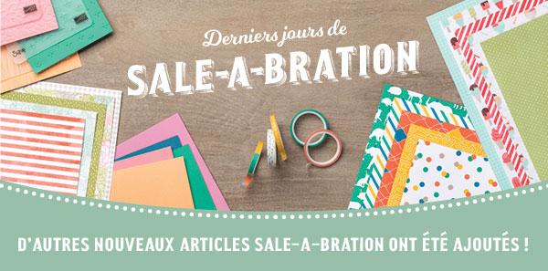 8 NOUVEAUX articles Sale-A-Bration ajoutés aujourd'hui !